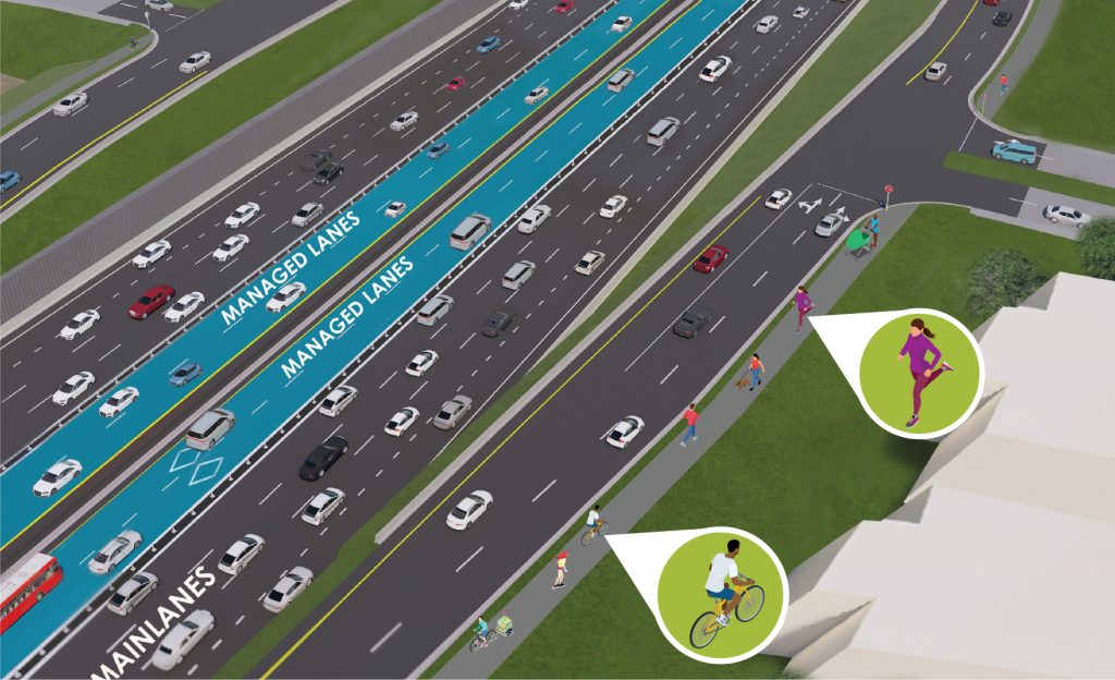 I-35 Managed Lanes Rendering